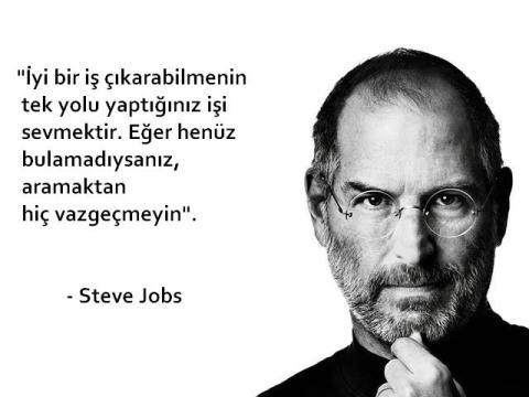 Steve Jobs - Severek çalışılacak iş tanımı