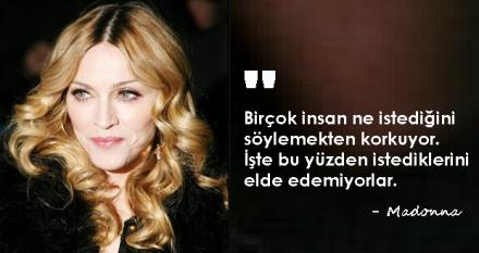 Madonna'dan başarıya dair sözler...